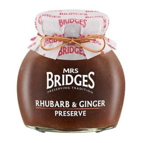 Rhubarb And Ginger Preserve 340G - Mrs Bridges