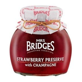 Strawberry Preserve With Champagne 340G - Mrs Bridges